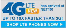 4G LTE service on AT&T is now available with NET10 Wireless.