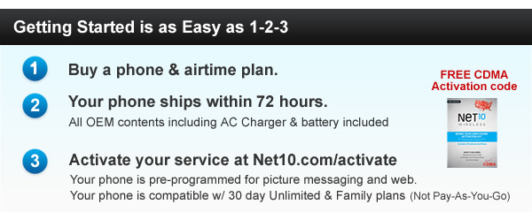 Buying a new Prepaid NET10 Wireless Phone is easy!