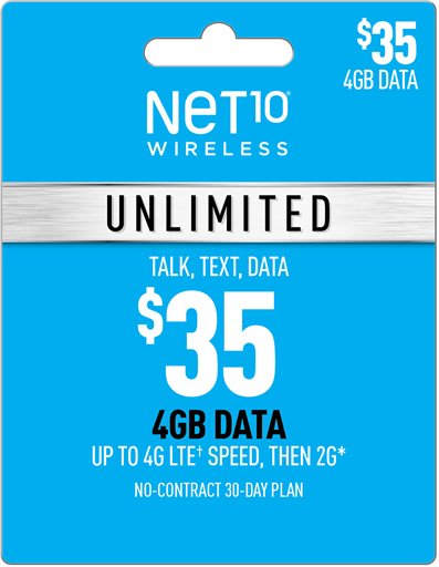 NET10 plans, NET10 Unlimited plans, Pay As You Go and Family