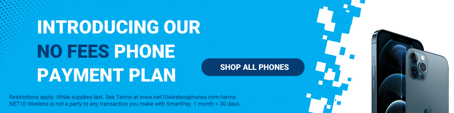 Shop the latest NET10 Wireless Phones and get a payment plan with no fees.