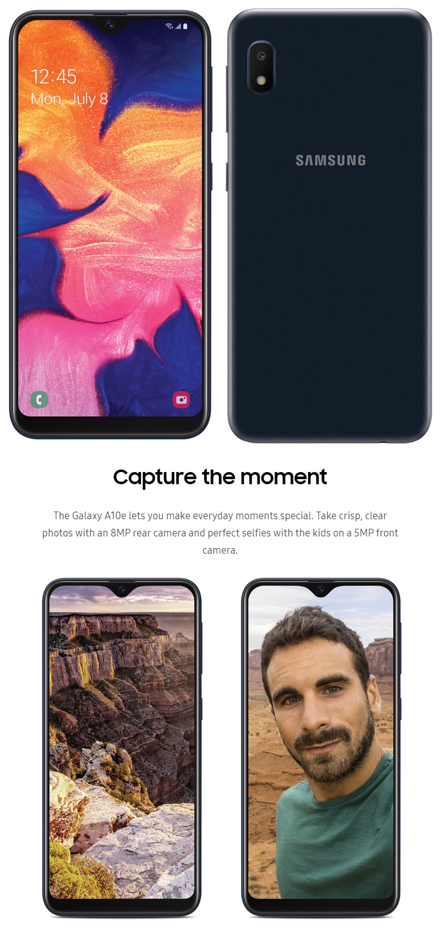 Samsung Galaxy A10e With Infinity Manual Guide